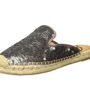 Sam Edelman Kerry Mule Pewter Sequins NIB 8.5
